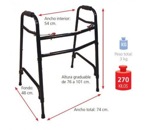 Caminador Bariátrico, Hasta 270 kg