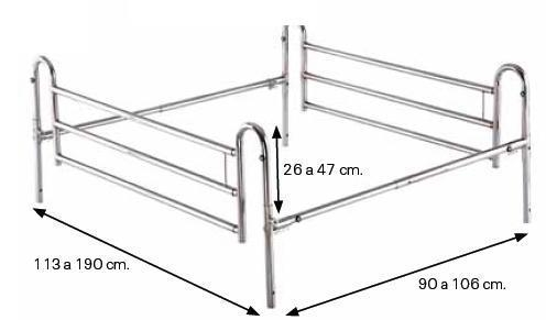 brandilla ambos lados de la cama