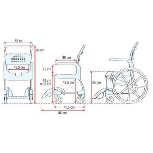 Silla de Ducha Autopropusable CLEAN 600 3