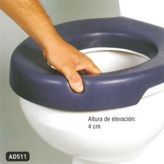 Asiento Elevador W.C. Blando BLUE