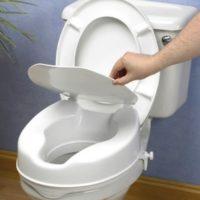 Asiento Elevador De WC Con Tapa Económico. MEDIDAS: 10 ó 15 cm. Sellado. Resiste olores y manchas.