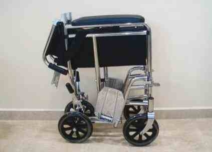 Silla De Ruedas De Transporte Plegable