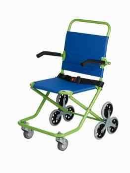 silla para evacuaciones roll over con ruedas traseras