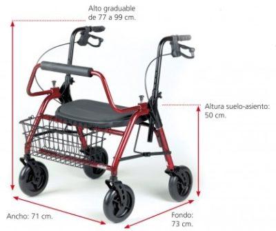 MAXI Rollator XL, Hasta 295 kg Plegable 2
