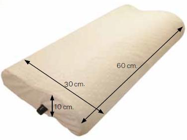 almohada de aire con espuma de memoria