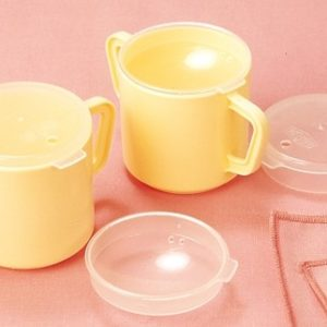 Vasos de Plástico Dos Asas con Dos Tapas