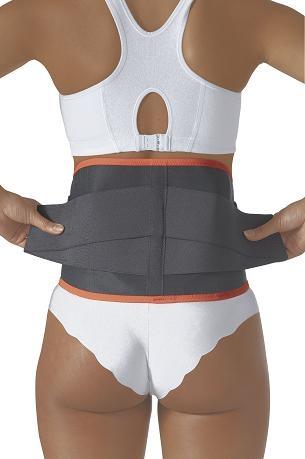 Faja Lumbar Plus, ideal para realizar tareas pesadas, con laterales desmontables para un refuerzo adicional. Confiere presión en la espalda baja.