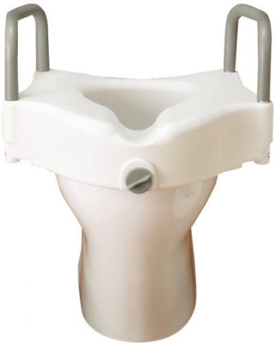 Elevador WC Con Brazos Y Fijador En Su Adaptación. Prevenir accidentes domésticos. Mejorar el acceso al inodoro.