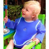 Babero Infantil Violeta con Mangas