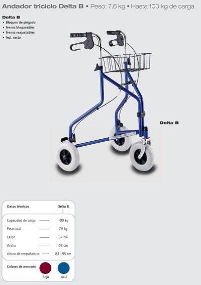 Rollator Andador Triciclo Delta B