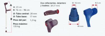 Bastón con Puño Anatómico Blando, Aluminio 4