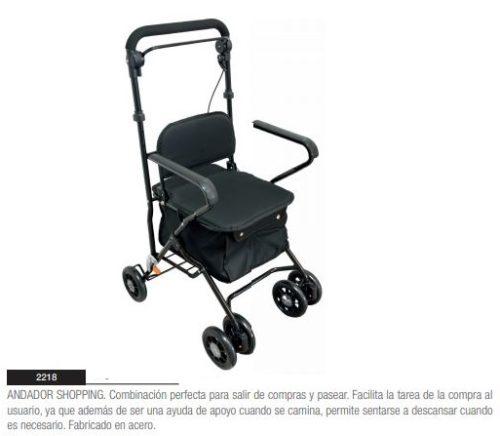 Andador Carrito de Compra con Asiento SHOPPING