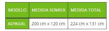 Medidas Cama ALURA LOW XL