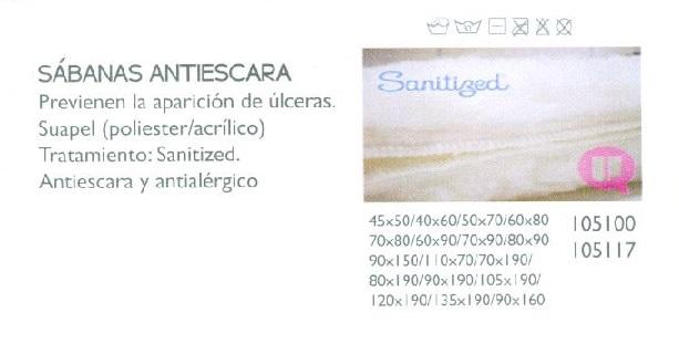 Sábana Antiescaras Sanitized