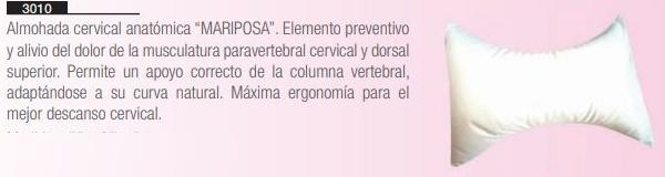 Almohada Cervical MARIPOSA