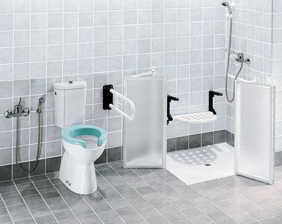 Asiento de ducha abatible con patas dan mayor seguridad for Duchas para discapacitados