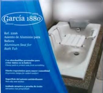 silla para baño de aluminio