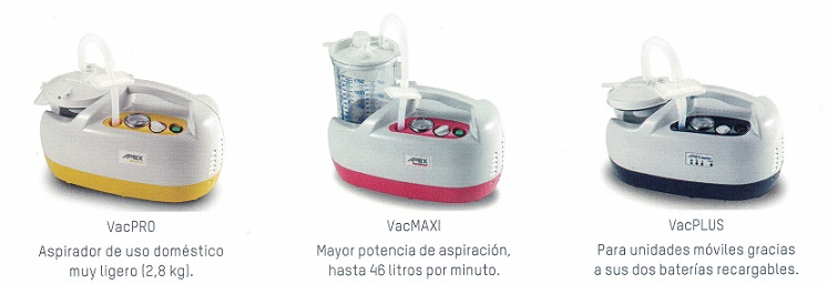 aspiración de secreciones series VAC Apex Medical