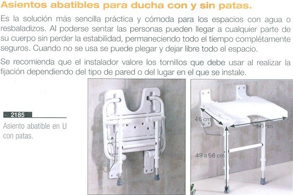 asiento abatible