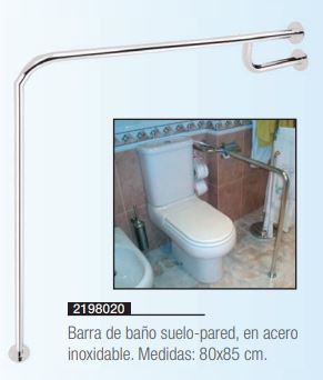 Barra De Baño Suelo Pared. Robusta Construcción - Asister