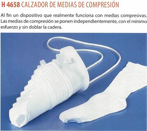 calzador de medias de compresión