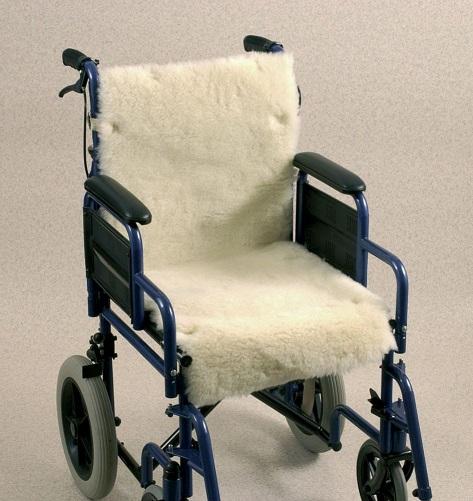 Coj n de lana para asiento con respaldo asister - Cojin silla de ruedas ...