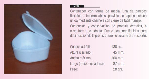 Contenedor Conservación De Prótesis Dentales