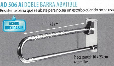 Doble Barra Abatible Acero Inoxidable