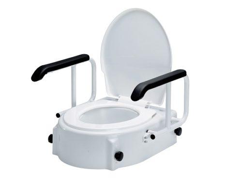 Elevador WC Reposabrazos TSE-A. Regulable en altura e inclinación.