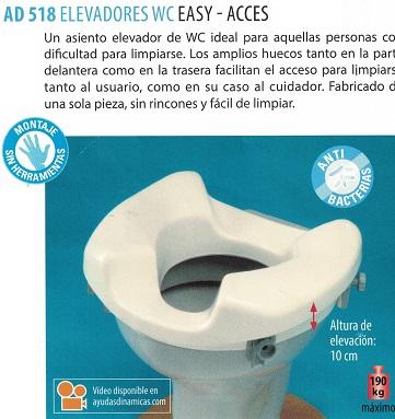 Elevador Para WC EASY-ACCES. 10 cm. de elevación