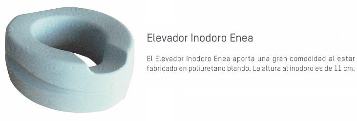 Elevador Inodoro BLANDO ENEA De 11 cm. Hasta 185 kg. Facilita el acceso al inodoro.