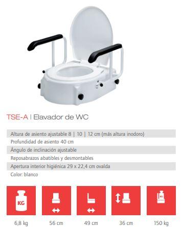 Elevador WC Reposabrazos TSE-A