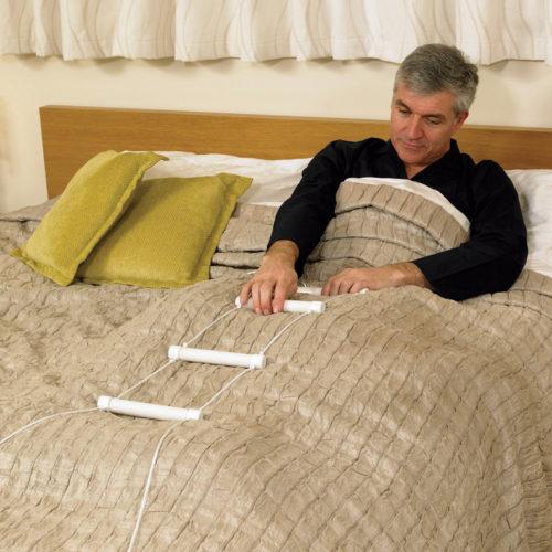 escalera de ayuda a levantarse de la cama