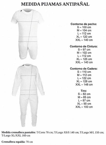 Pijama ANTIPAÑAL. Pantalón y manga corta. SANITIZED