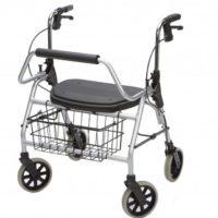 Maxi Rollator L, Hasta 200 kg Plegable