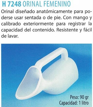 Orinal Femenino Resistente y Fácil De Lavar