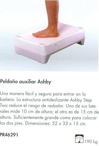 Peldaño Auxiliar ASHBY. Manera fácil y segura para entrar en la bañera.