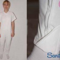Pijama Antipañal. Pantalón Largo, Manga Corta. SANITIZED.