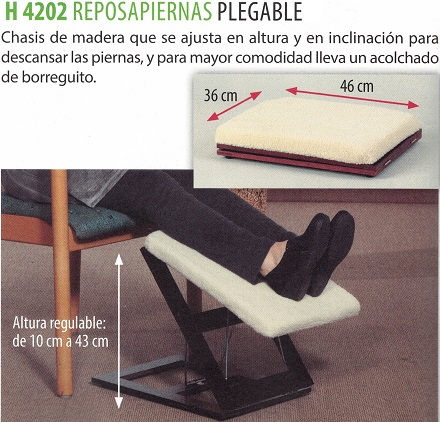 reposapiernas plegable
