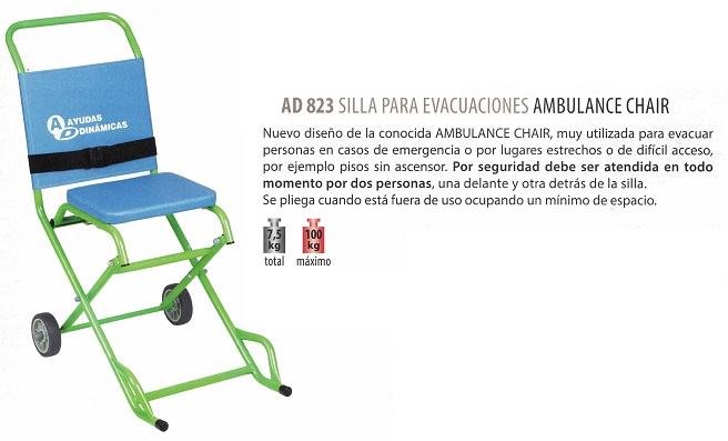 silla para evacuaciones