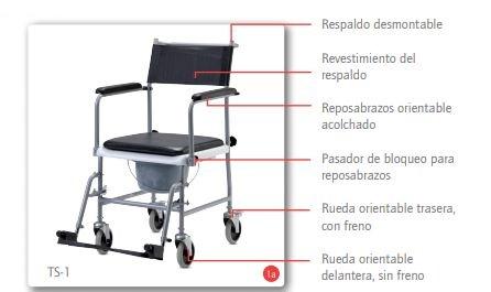 Silla De Ruedas Con Inodoro TS-1 De B&B Iberia
