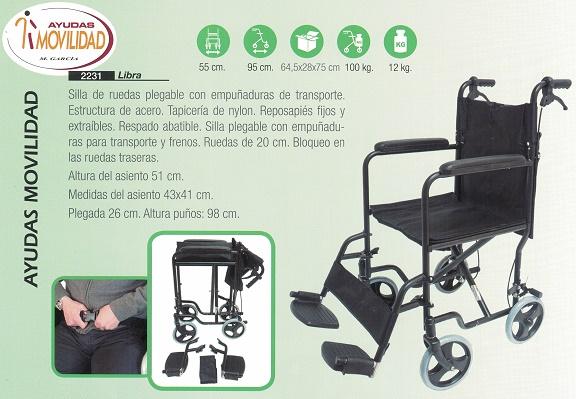 sillas de ruedas de transporte