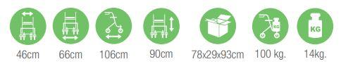medidas silla géminis
