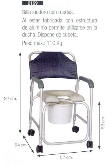 Baño General En Silla:Silla Inodoro con Ruedas, Se Puede Utilizar Tanto en la Ducha Como en
