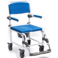 silla de ducha con ruedas aston wc xl