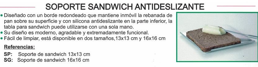 soporte sándwich