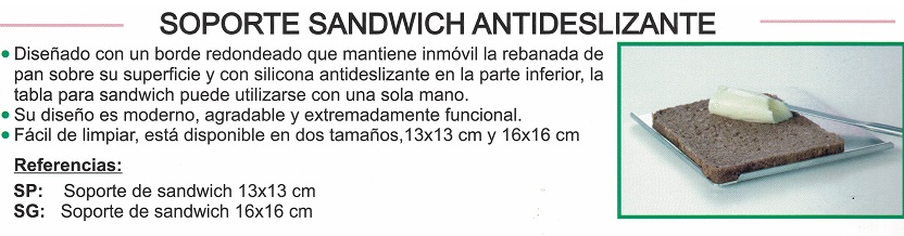 Soporte SÁNDWICH Antideslizante De RIKA CARE