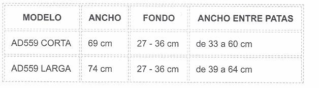 TABLA DE BAÑERA ASIENTO BAÑO CORTA 69 cm ó LARGA 74 cm ORTOPEDIA