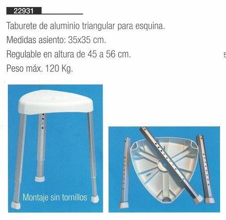 Taburete De Ducha Esquinero. 2 MODELOS - Fija y TAKE AWAY.