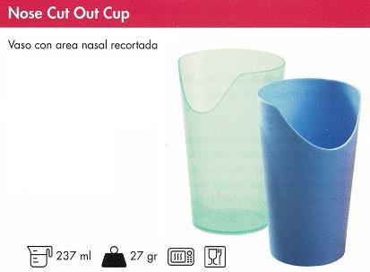 taza cortado para la nariz
